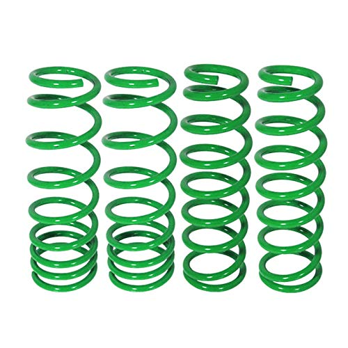 Fit 2000-2005 Mitsubishi Eclipse Suspension Lowering Spring Green (L4 Drop Front - 2.5