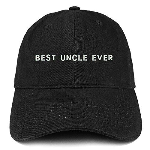 Trendy Apparel Shop Best Uncle Ever Embroidered Soft Cotton Dad Hat - Black