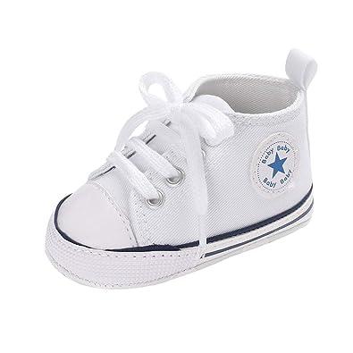 4b04180de3a79 yunhou Unisexe Chaussures Bébé Chaussures De Sport pour Enfant en Toile Chaussures  Basses Chaussures À Semelle