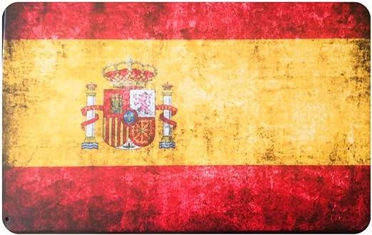 MARQUISE & LOREAN | Placas Decorativas Pared Bandera España Decoración Carteles Vintage Metálicos MIRA (20 x 30 cm): Amazon.es: Hogar