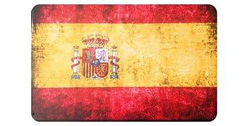 Placas metálicas Decorativas Vintage Bandera de España. Bar Garaje Pared Retro