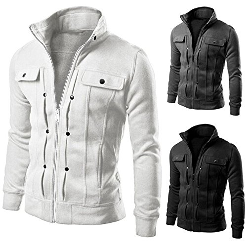 iYBUIA TOP Fashion Mens Cotton Slim Designed Lapel Cardigan Coat Jacket