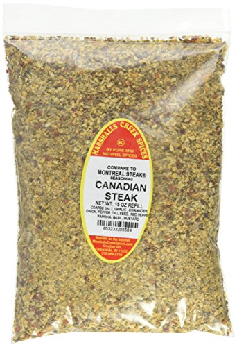 Marshalls Creek Spices Kosher Canadian Steak Seasoning Refill, 15 Ounce (Canadian Steak)