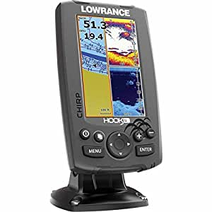 Lowrance hook 4 sonar gps mid high downscan for Amazon fish finder