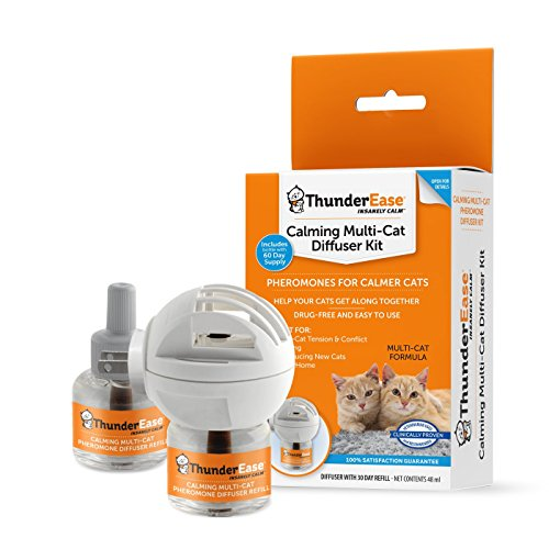 ThunderEase Calming Anti Anxiety Diffuser Kit for Multiple Cats (60 Day Supply)