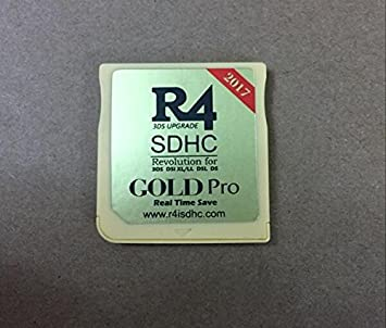 New R4I 2017 SDHC GOLD Pro Game Card Adapter for DS DSI 2DS