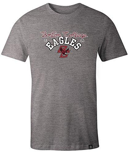 NCAA Boston College Eagles Adult Women NCAA Classic Arch Script Image One Women's Triblend Short sleeve T-Shirt, Large,HeatherGrey