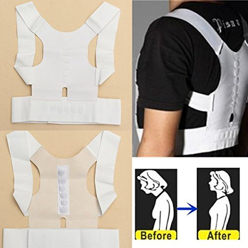 Bazaar Magnet Therapy Posture Shoulder Corrector Back Support Brace Belt Choice of S/M/L/XL Big Bazaar EXPSFN014878