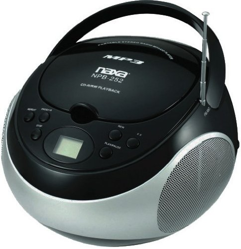 NAXNPB252BK - NAXA NPB252BK Portable CD MP3 Player with AM FM Stereo (Black)