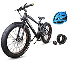 """NAKTO 26"""" 350W Fat Tire Electric Bicycle Shimano 6-Speed-Gear Mountain Ebike with Removable 36V10A Lithuim Battery and Charger and Smart Multi Function LED Anti-Light Digital Dashboard  Brand:NAKTO Product:Cruiser Size:26inch Frame:Iron frame..."""