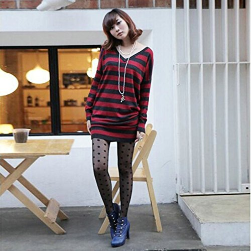 Lady Spring Special Style Clothes,Women Sexy Sheer Lace Big Dot Pantyhose Stockings Tights Dots Socks