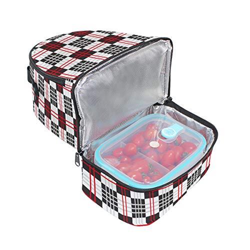 géométrique Folpply à l'école à Sac Tote Pincnic bandoulière avec isotherme Imprimé lunch Boîte Cooler pour le réglable qZwarZE
