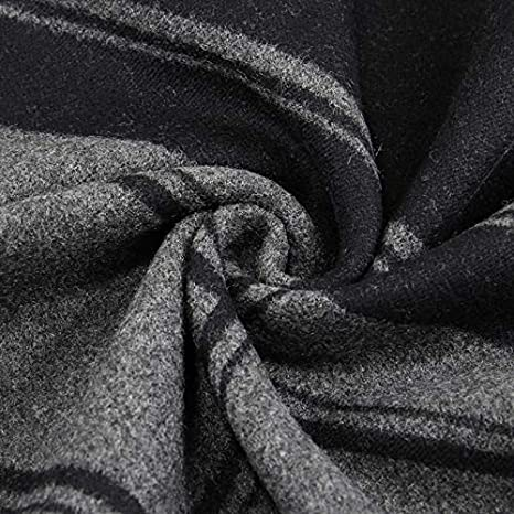 Cozy Men Scarf Thick Warm Cotton Scarf Middle-Aged Striped Casual Autumn Winter Scarf Thermal Color : 02, Size : 180cm