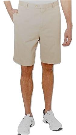 Kirkland Signature Mens Soft Pima Cotton Washed Twill Shorts Navy 32