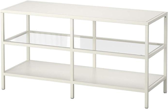 IKEA ASIA VITTSJO - Banco de TV, Color Blanco, Cristal: Amazon.es: Juguetes y juegos