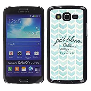 TECHCASE**Cubierta de la caja de protección la piel dura para el ** Samsung Galaxy Grand 2 SM-G7102 SM-G7105 ** Chevron Watercolor Nature Sky Bloom