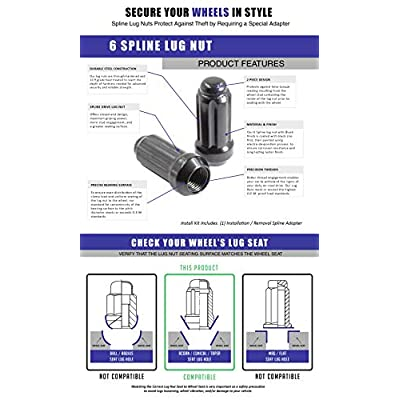 Wheel Accessories Parts M14x2.0 Truck Spline Bulge Acorn 2