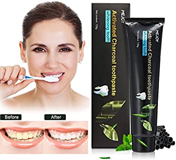 LuckyFine Activated Charcoal Teeth Whitening Toothpaste