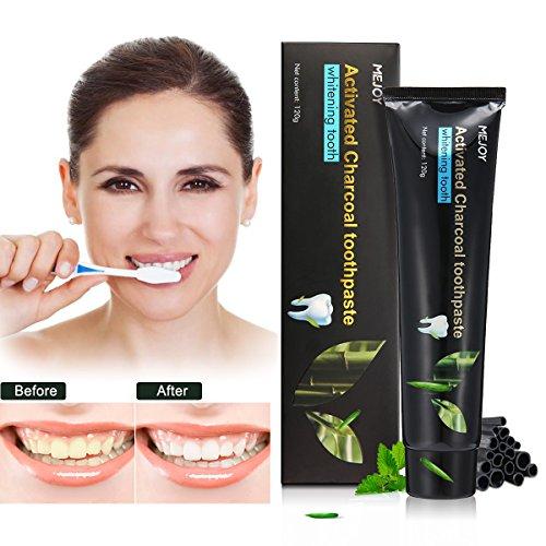 LUCKYFINE Carbón Vegetal Pasta Dental Carbón Activado Teeth Whitening Pasta Dental–Mejora la Salud Oral y Freshens...