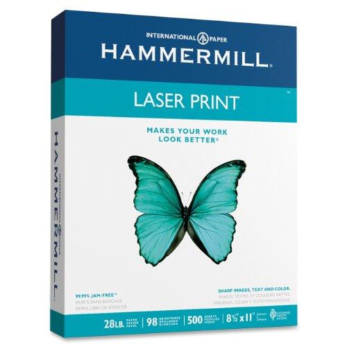 Hammermill Laser Print, 28lb, 8.5 x 11, 98 Bright, 500 Sheets/1 Ream (125534)