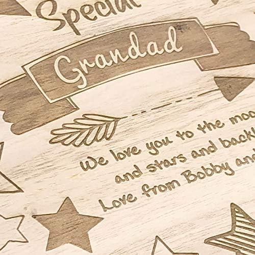 Raised Words Special Grandad Gift Personalised Large wooden Keepsake Box Gift