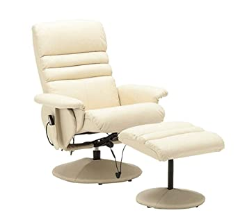 Admirable Mcombo Electric Artificial Leather Recliner Chair And Ottoman Swiveling Massage Tv Gaming Chair Swivel Seat For Video Game Office Home Theater 7902 Onthecornerstone Fun Painted Chair Ideas Images Onthecornerstoneorg