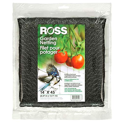 Ross 15720 039044157203 (Multi Netting for Use Around Yard and Garden), 14 feet x 45 feet, Black (Plastic Bird Netting)