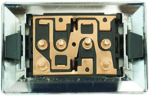 Power Window Switch With Trim for 78-90 Pickup Truck GM Chrome 2 Button