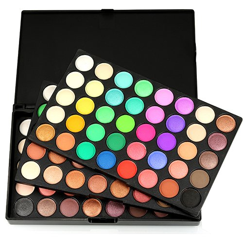Tzp5ChB Eyeshadow, 120 Colors Professional Matte Shimmer Eyeshadow Palette Makeup Cosmetic Kit