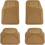 AmazonBasics 4 Piece Heavy Duty Car Floor Mat, Beige