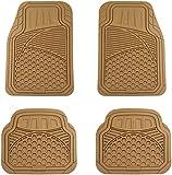 AmazonBasics 4 Piece Heavy Duty Rubber Car Floor Mat - Beige