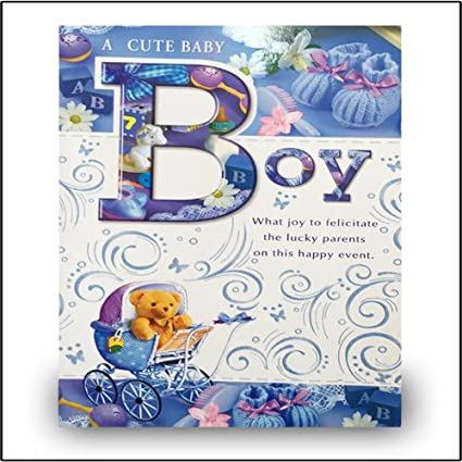 Baby boy birthday greeting card amazon office products baby boy birthday greeting card m4hsunfo