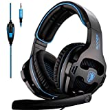 Image of Sades Over-Ear Stereo Bass Gaming Headphone with Noise Isolation Microphone for Xbox One PC PS4 Laptop Phone