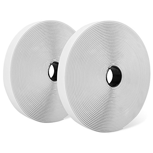Shiplies Hook and Loop Fasteners Tape Rolls with Permanent Adhesive Backing (41 Feet x 0.9 Inch)