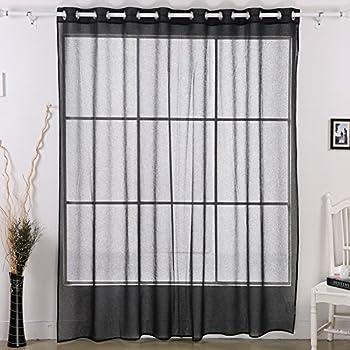 Amazon Com Deconovo Grommet Window Sheer Curtain Wide