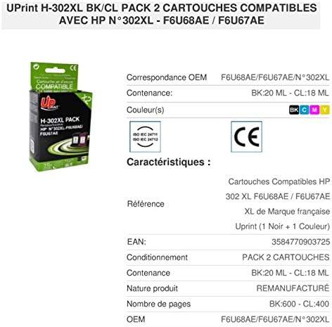 Cartuchos compatibles H-302 XL / F6U68AE / F6U67AE de la Marca ...