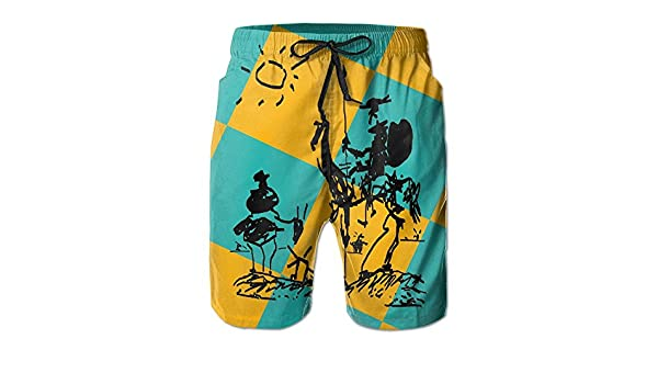 Picasso Don Quixote Mens Classic Summer Shorts Casual Swim Shorts with Pockets