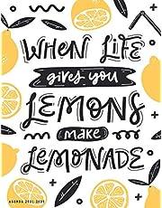 Agenda 2021-2025: When Life Gives you Lemons Make Lemonade: Agenda mensuel 5 ans - format lettre, janvier 2021 à décembre 2025, planificateur, 1 mois sur 2 pages contenant objectifs, à faire, affirmations, réalisations, gratitudes, prières ... et notes
