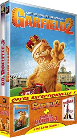 Amazon Com Garfield 2 Dr Dolittle 3 Coffret 2 Dvd Movies Tv
