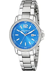 Tommy Bahama RELAX Womens 10018373 Island Breeze Analog Display Japanese Quartz Silver Watch