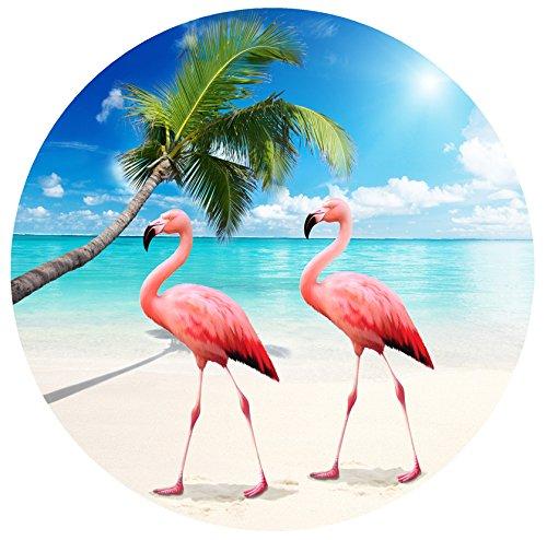網戸ドアマグネット–ひねってカチッとロック–人やペットが網戸にぶつかるのを防止 unknown B0773YH51S Flamingos Flamingos
