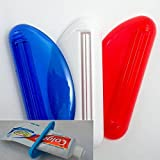 3 Ez Plastic Tube Squeezer Toothpaste Dispenser Holder Rolling Bathroom Extract Assorted colors