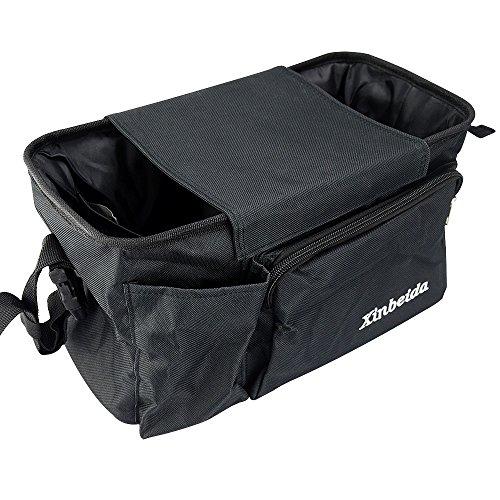 Deli Multifunctional Hanging Baby Stroller Bag - Pram Basket Bag/Diaper Bag Organizer/Nappy Bag/Stroller Trolley Bag/Stroller Storage Basket/Mummy Shoulder Bag Big Capacity Black