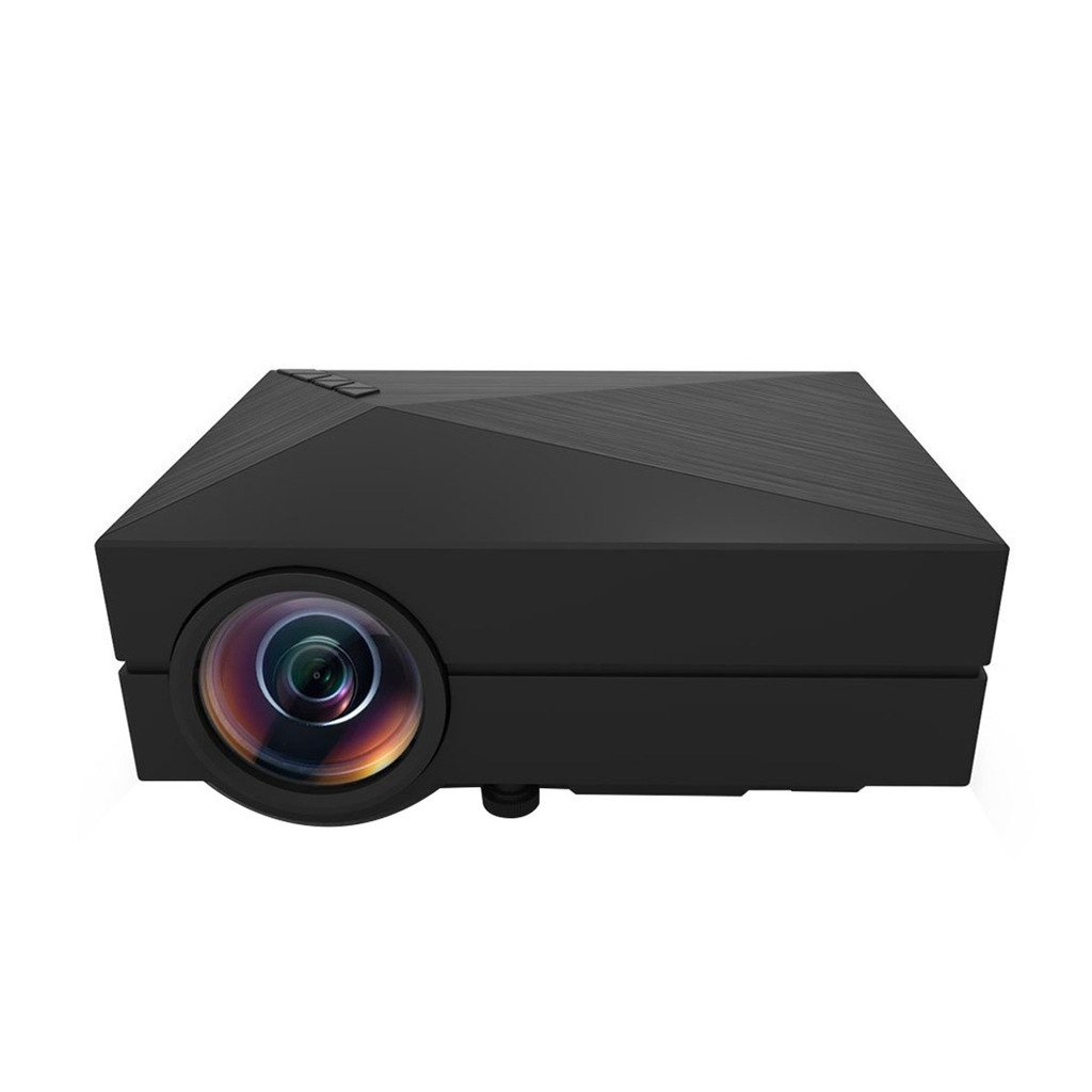 DoLotu GM60 Multimedia Mini LED Projector 100 Lumen 800*480 Private Cinema support HDMI VGA AV USB port