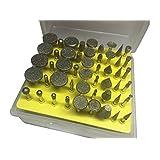 REAMTOP 50pc Diamond Burr Set-Ceramics Tile Glass Lapidary for Rotary Tools
