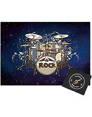 ZXHH Drum Tapijt Antislip Drum Rug Drum Mat Geluiddichte Mat | Drum Tapijt Professionele Rechthoek Elektronische Jazz Drum Kit, Voor Bass Drum Snare En Andere Muziekinstrument Mat 120CM * 80CM