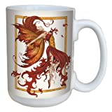 Tree-Free Greetings lm43547 Fantasy Fire Dance Fairy Ceramic Mug with Full Sized Handle by Amy Brown, 15-Ounce
