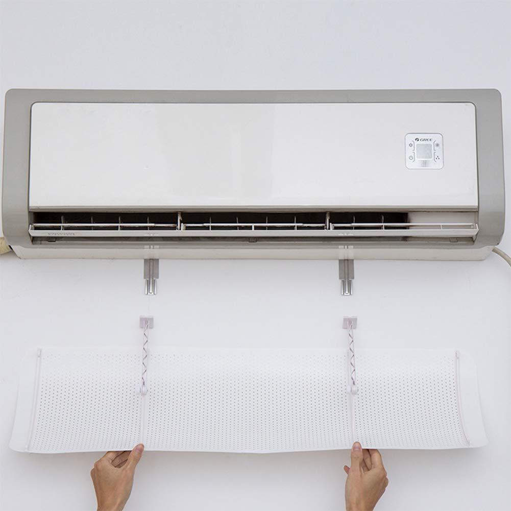 Cubierta de Cuidado del Parabrisas de Uso dom/éstico Cubierta de Aire Acondicionado de Malla Colgante Deflector de Aire de confinamiento de Aire Acondicionado Deflector de Aire Acondicionado