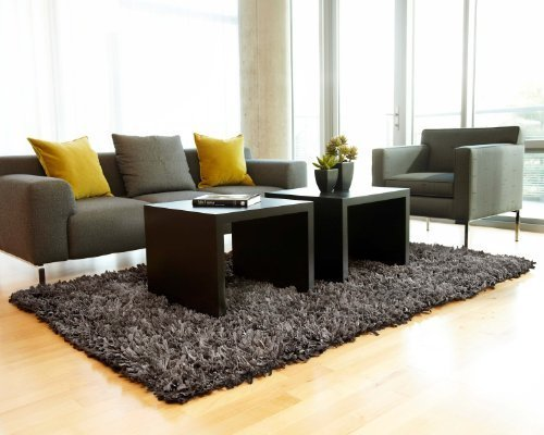 Nautural Fiber Cotton Rug Large 8-Feet by 10-Feet Gray Solid Carpet
