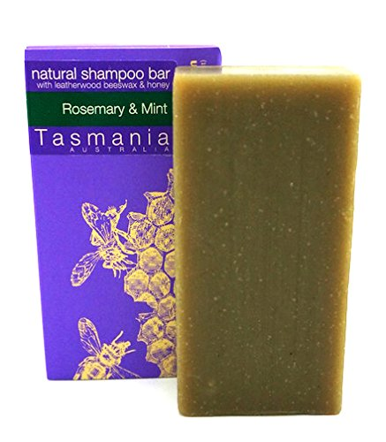 (Rosemary & Mint SHAMPOO Bar with Leatherwood Honey | 100% Natural & Organic Ingredients Sulfate Free | Great for Regular Use & Anti Dandruff Itchy Scalp | Beauty and the Bees in Tasmania Australia)